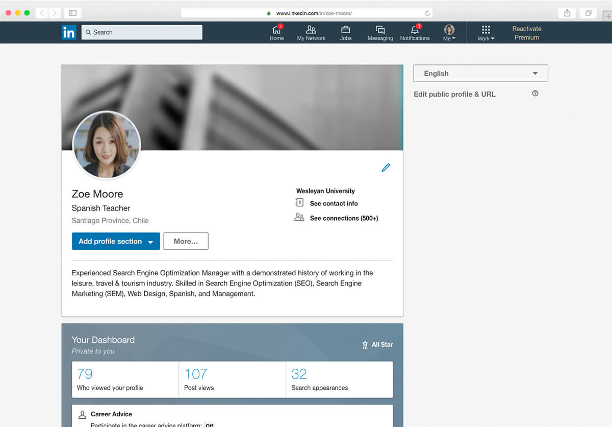 Create Cv From Linkedin Build A Much More Engaging And Eye Catching Cv With Cvonline Me