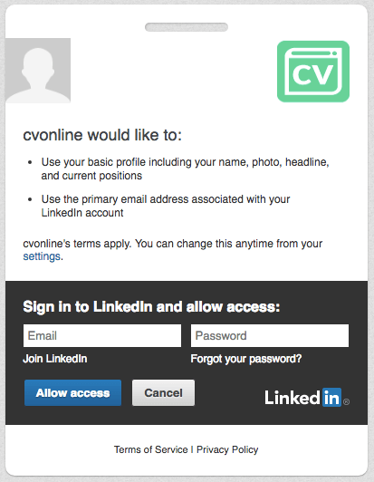 generate your cv from linkedin