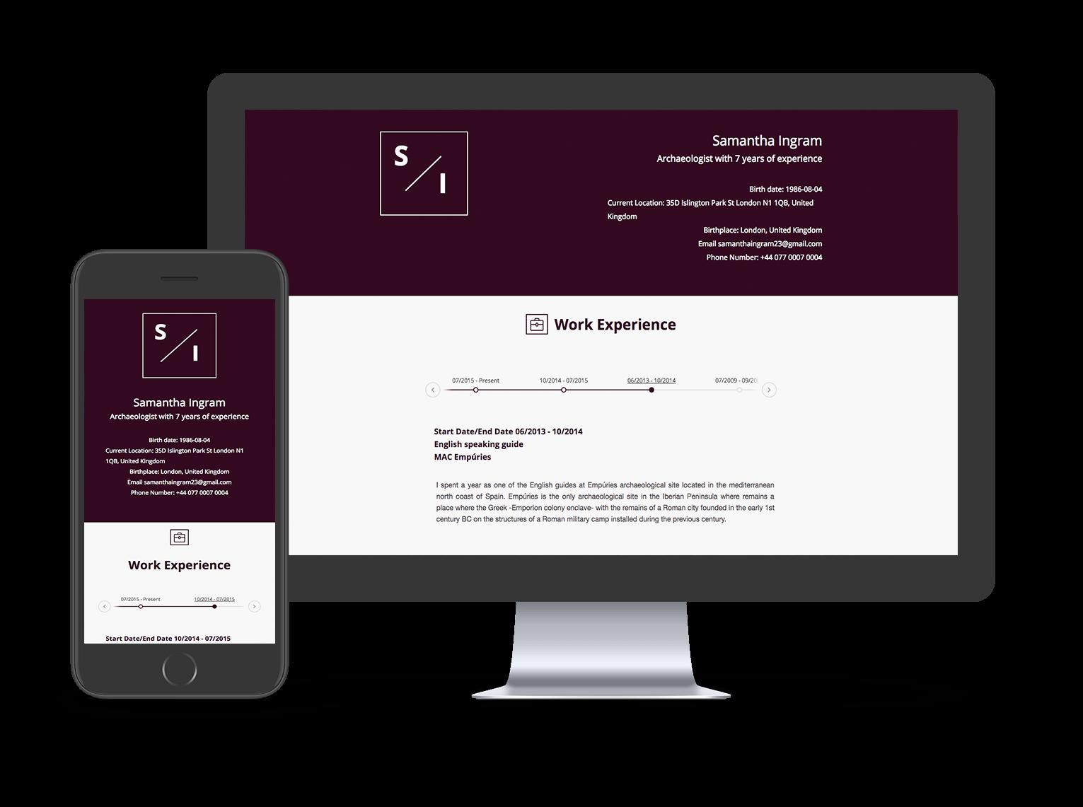 Currículum Online - Crea el tuyo Gratis - cvonline.me