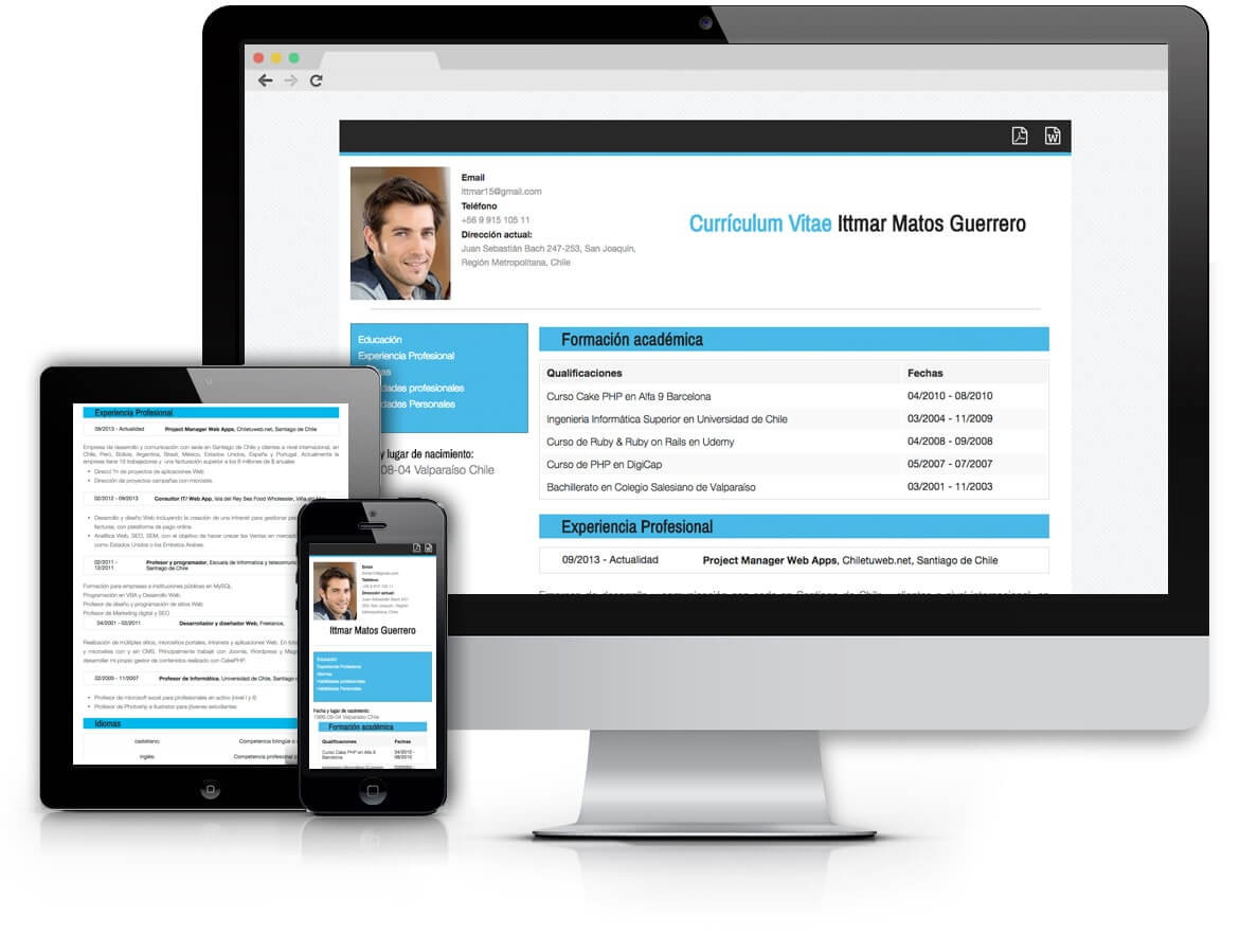 Black and Blue - Plantilla Curriculum Vitae Online - cv online