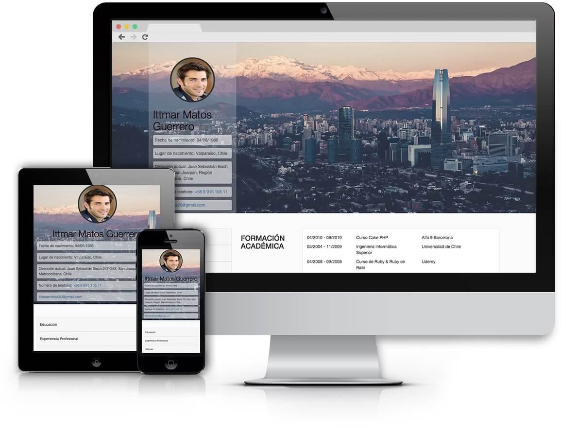Santiago de Chile - Plantilla Curriculum Vitae Online - cv online