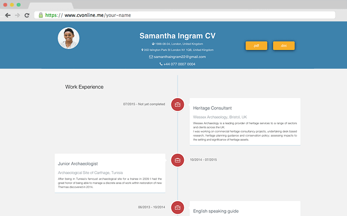 cv online create yours completely free and share it with employers
